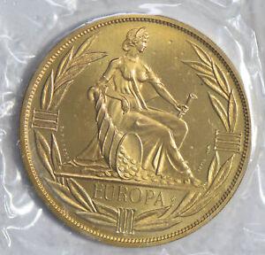 Naked woman Ecu Prooflike bronze European Currency Unit