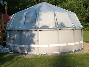 Above Ground Soft Side Swimming Pool Solar Sun Dome Cover Heater Panel Sundome Ebay
