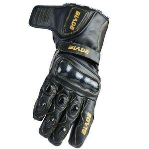 Blade Motorcycle Gloves Leather Motorbike Waterproof Thermal Winter Summer Ebay