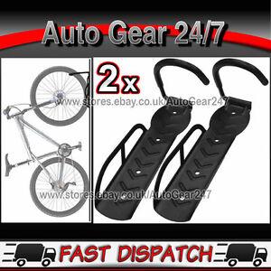 2-x-Wall-Mount-Bicycle-Bike-Cycle-Storage-Metal-Stand-Hook-Holder-Hanger-Rack