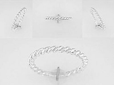 Simple Rope Band 14 kt White Gold