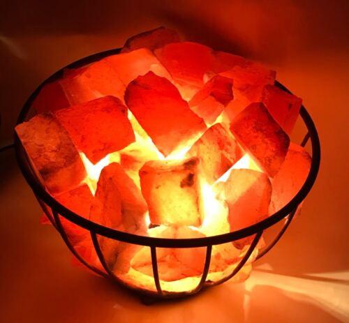 100/% Original Natural Himalayan Rock Salt Chunks Fire Basket Salt Lamp