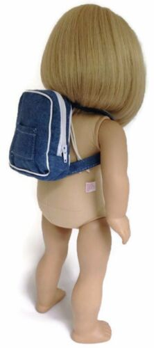 Blue Denim Backpack made to fit 18 inch American Girl Doll Clothes