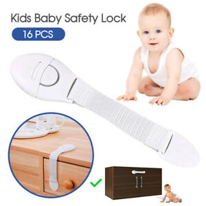 16X-Child-Kids-Baby-Safety-Lock-For-Door-Drawers-Cupboard-Cabinet-Adhesive