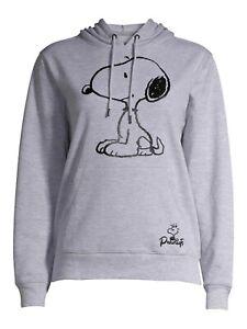 Peanuts Snoopy Graphic Logo Women's Hoodie Hooded Sweatshirt Size Medium