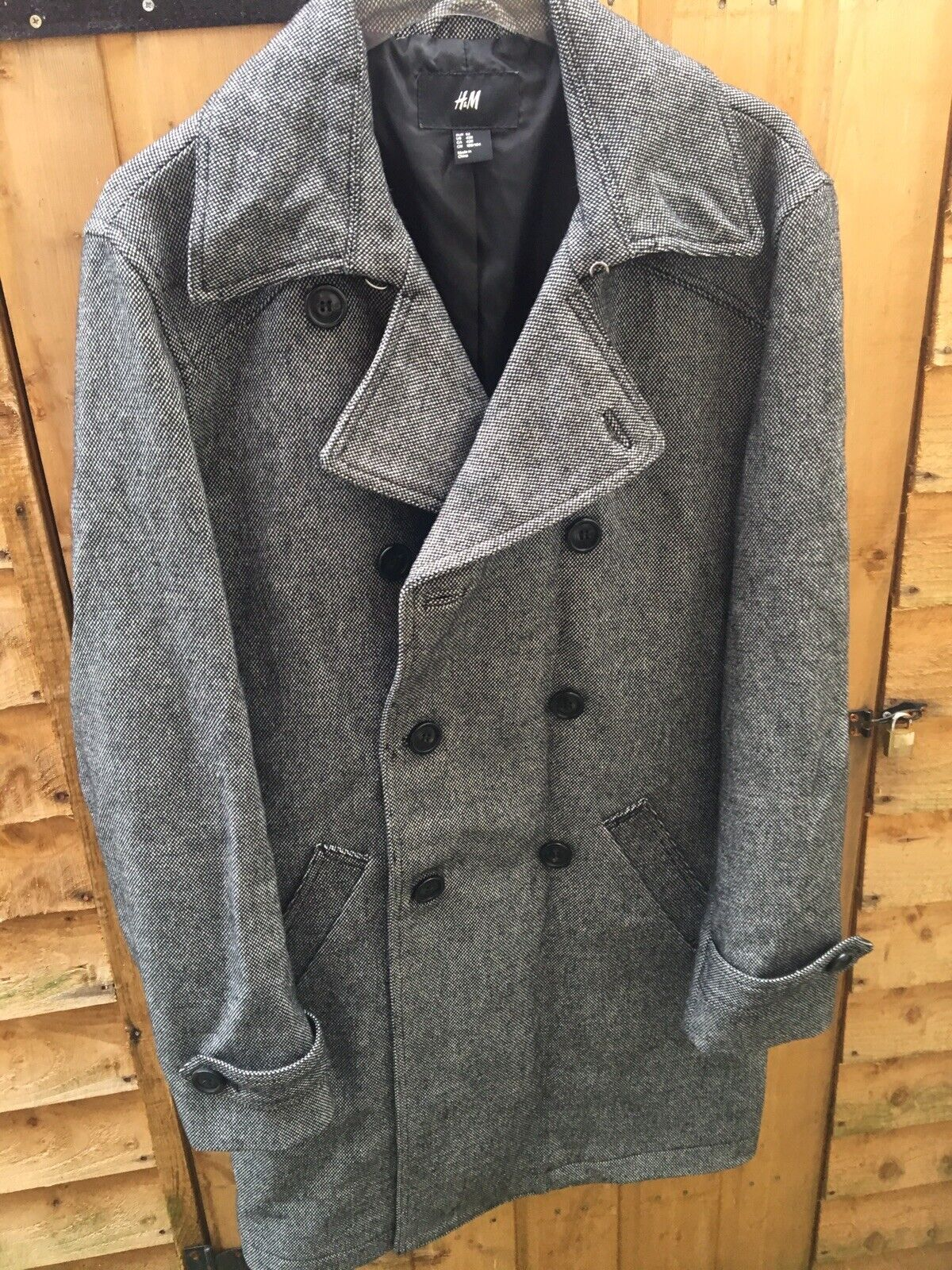 H&M Men's Double Breasted Smart Formal Coat - Wool Blend