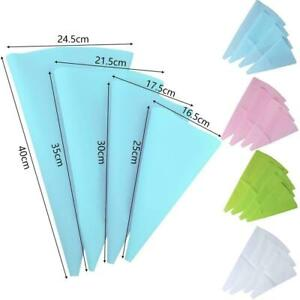 4pcs-Silicone-Reusable-Icing-Piping-Cream-Pastry-Bag-Tools-Cake-Decorating-T3X0