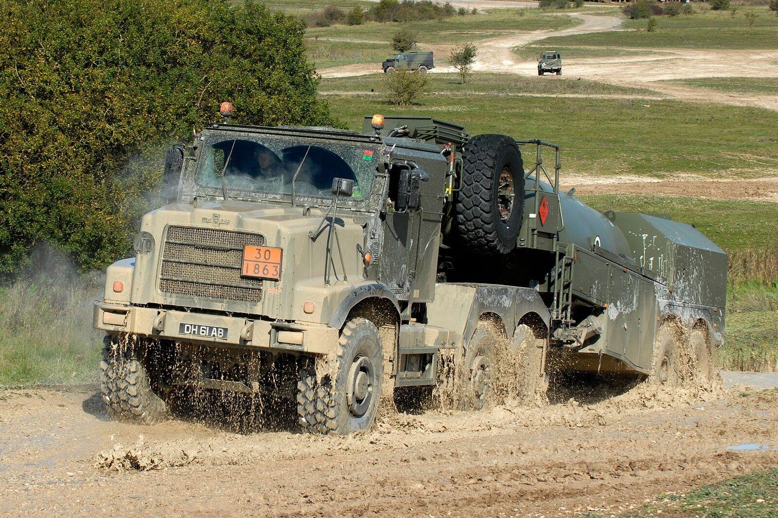 BRITISH ARMY  OSHKOSH FUEL TANKER Military Photo Print