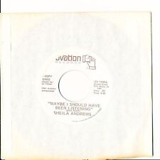 Sheila Andrews Maybe I Should Have Been Listening bw Same WLP 45 Ovation 1165