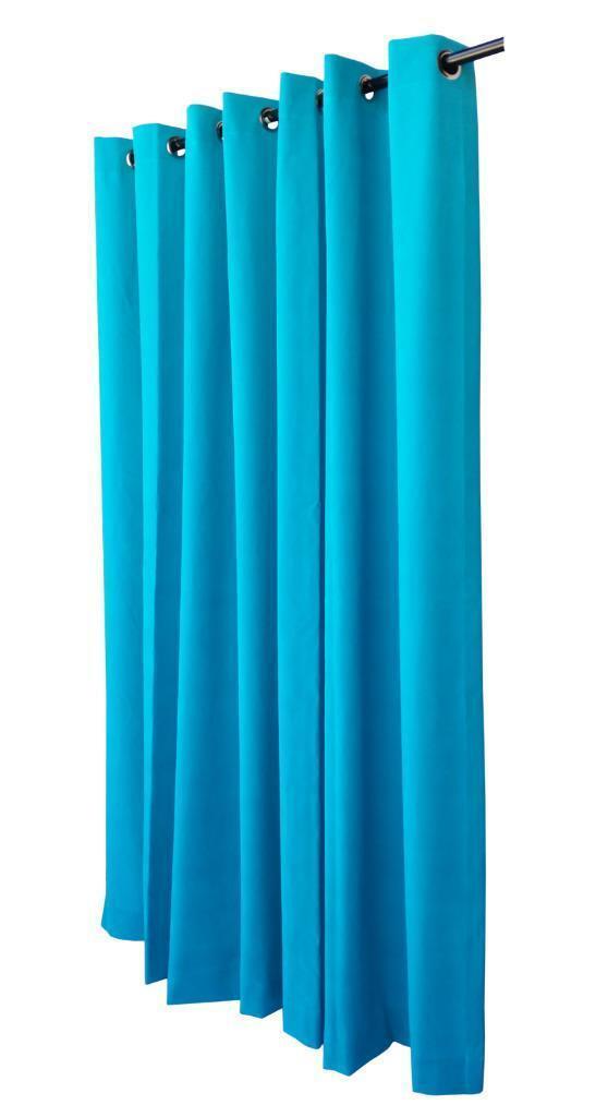 Turquoise 213cmH Panneau Rideau En En En Velours avec/œillet Oeillets Haut De La Page cf437c