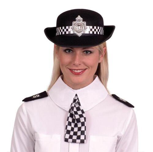 Shoulder Epaulettes Fancy Dress WPC Set Ladies Policewoman Checked Scarf