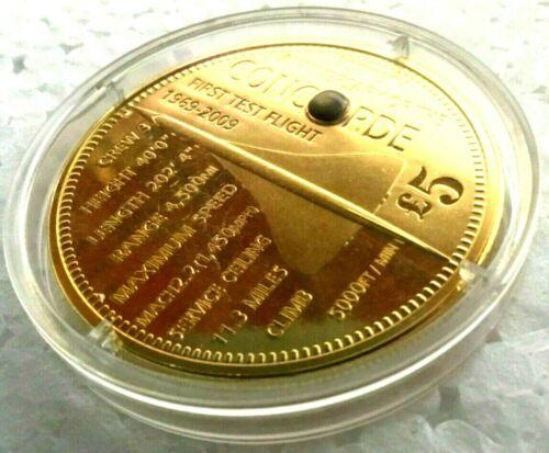 TRISTAN DA CUNHA 2009 £5 CONCORDE PROOF COIN ENCAPSULATED PIECE OF CONCORDE