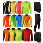 Mens Soccer GK Kit Sport Trainning Football Goalkeeper Padded Jersey Shirt Pants