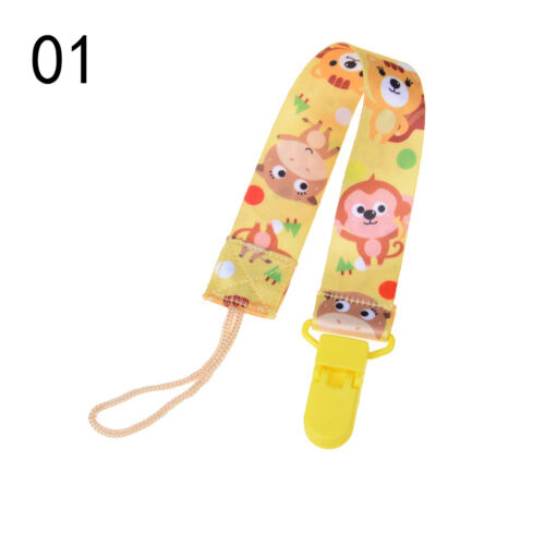 1x Baby Infant Pacifier Soother Nipple Ribbon Leash Strap Chain Clip Holder HICA