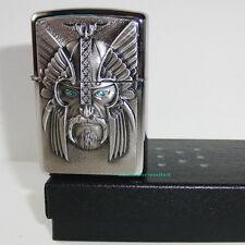 ZIPPO Feuerzeug GREEN EYED VIKING m.Emblem 3D, Katalog 2013 Wikinger NEU OVP