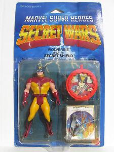 Guerres secrètes Wolverine et son bouclier Secert Marvel Super Here Mattel 1984 Nip