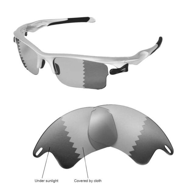 7925dbc4ad Walleva Polarized Transition Photochromic Lenses for Oakley Fast Jacket XL