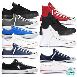 New-Converse-Trainers-Sneakers-Shoes-Chuck-Taylor-Canvas-One-Star-Suede-Hi-Lo