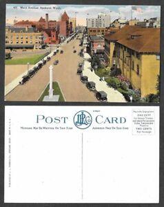 Old-Washington-Postcard-Spokane-Main-Avenue-Street-Scene