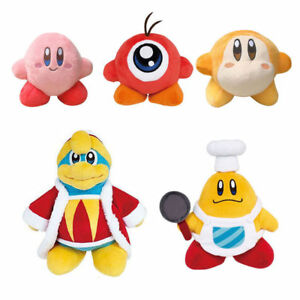 5pcs-Kirby-Chef-Kawasaki-amp-Waddle-Dee-amp-Waddle-Doo-amp-King-DeDeDe-Plush-Doll-Toy