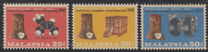 33-MALAYSIA-1968-NATURAL-RUBBER-CONFERENCE-SET-3V-FRESH-MNH-CAT-RM-13
