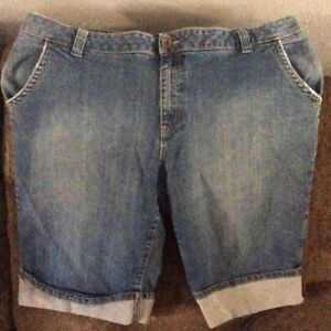 65d8a961407 Ana Jcpenney Womens Jean Shorts size 24 Blue Plus W Nice Free Jcp ...