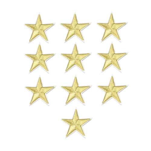 10x Star Patch Iron On Sew On Embroidered Badge Embroidery DIY Clothes Applique