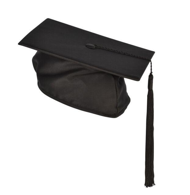 Childrens Mortarboard Graduation Kids Nursery Black Cap/Hat 3- 8 Gown Accessory