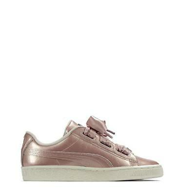 Puma Suede Heart Rose Gold Junior Sneakers Casual   Sneakers Beige Girls Size
