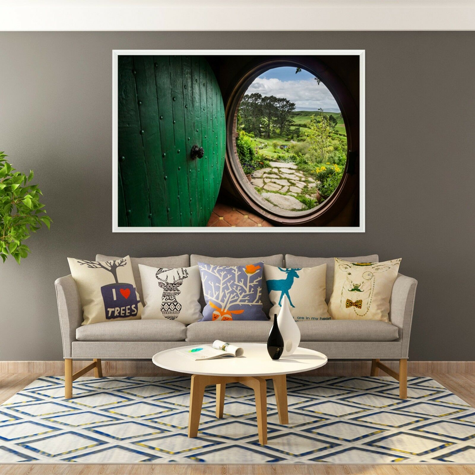 3D Round Door 67 Framed Poster Home Decor Print Painting Art AJ WALLPAPER
