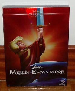MERLIN-EL-ENCANTADOR-CLASICO-DISNEY-N-18-DVD-NUEVO-NEW-FUNDA-CARTON-SLIPCOVER