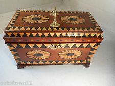 Antique inlaid Mahogany Tea Caddy Box   ref 1474N   29/3 KP36ayy