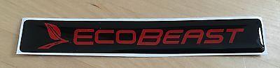 Ford Ecobeast GEL Domed Badges x1 Focus Fiesta ST ZS 1.6 1.0 Ecoboost Mk7