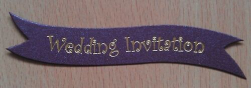 Aubergine Sheen with Gold Foil Writing 25 per pack Wedding Invitation Banners