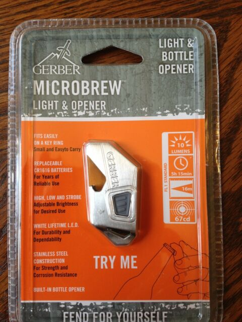 Gerber Microbrew Light & Bottle Opener - LED with high, low and strobe 3 colors