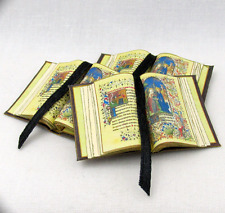 Open Book MEDIEVAL ILLUMINATED BOOK OF HOURS Miniature Book Dollhouse 1:12 Scale