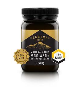 Manuka Honig MGO 450+ UMF 14+ 500g Original aus Neuseeland Egmont Honey