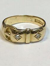 Rare Antique 18 Carat Gold VICTORIAN DIAMOND SET BUCKLE Ring