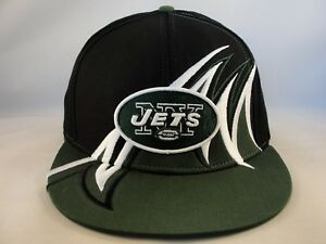 Image is loading New-York-Jets-NFL-Snapback-Hat-Cap-Black- a9dcde9e6b35