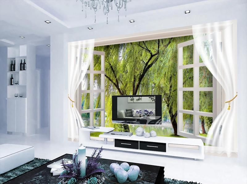 3D Weide Fenster 8643 Tapete Tapete Tapete Wandgemälde Tapete Tapeten Bild Familie DE Summer   Auktion    Zuverlässige Qualität    Bevorzugtes Material  189f9c
