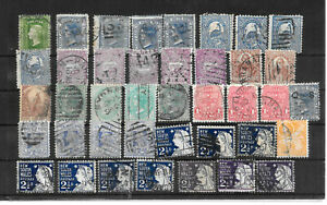 Australia-New-South-Wales-LOT-used-old-stamps