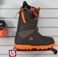 2016 Burton Moto Snowboard Boots Mens Size 10 Brown / Orange