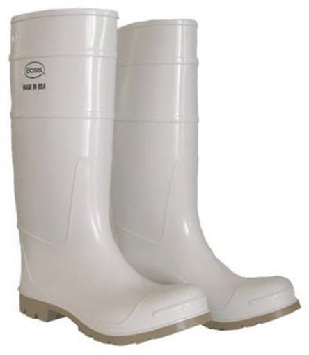 Boss Mfg 2PP192406 16 in. PVC Over The Sock Boot - Size 6 White