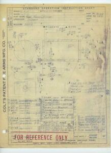 WWII-1943-Colt-Patent-Fire-Arms-MFG-Company-ORIGINAL-FACTORY-DRAWING-Hartford-CT