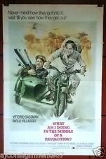 What Am I Doing in the Middle of a Revolution? 27x41 Original Movie Poster 70s