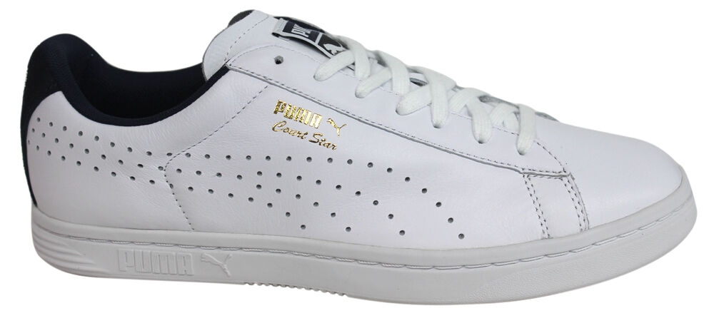 Puma Court Star CRFTD Mens Trainers shoes Leather White Lace Up 359977 02 D123