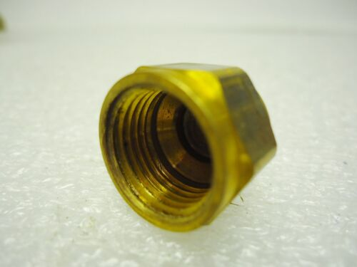 "NEW 41207 3//8/"" Brass Flare Cap Lot of 5 pcs"
