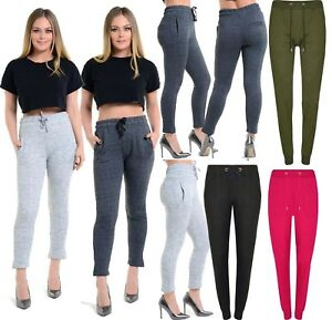 01efac075b Image is loading Ladies-Tracksuit-Bottoms-Womens-Joggers-Trousers-Jogging- Pants-