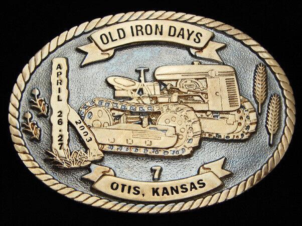 OB27136 Nummern 2003 Old Iron Tage Otis Kansas Gedenkausgabe Gürtelschnalle