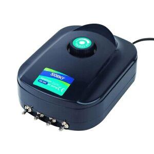 Aquarium Pompe à Air Oxygène 4 Sortie 24hr Ultra Rapide Envoi-afficher Le Titre D'origine